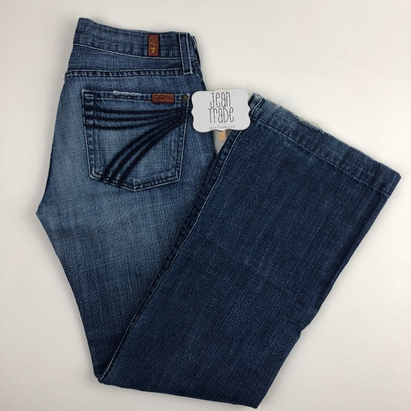 7 for all Mankind Denim - 7 for all mankind dojo flare jean 27x29.5